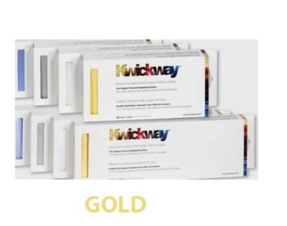 """DA KWICKWAY PRE-CUT STRIPS 8 x 3 3/4"""" (200 STRIPS) GOLD"""