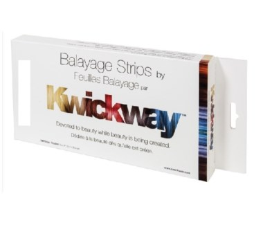 "DA KWICKWAY BALAYAGE STRIPS 10 x 5"" (150 STRIPS) WHITE"