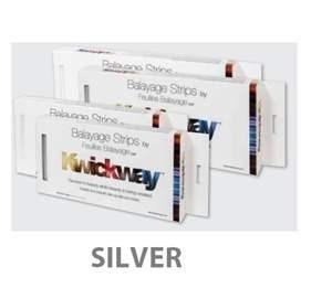 """DA KWICKWAY BALAYAGE STRIPS 12 x 5"""" (150 STRIPS) SILVER"""