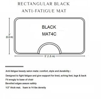 DA 3 X 5 RETANGULAR BLACK MAT