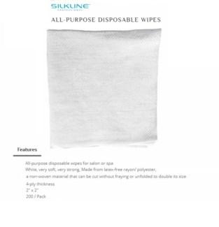"""DA SILKLINE ALL-PURPOSE 4-PLY DISPOSABLE WIPES (2"""" X 2"""")"""