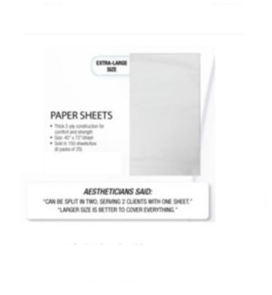 "DA SL 40"" x 72"" PAPER SHEETS  - (6 PACKS OF 25 SHEETS)"