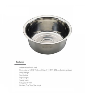 DA STAINLESS STEEL PEDICURE BOWL