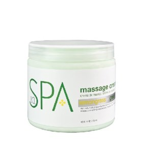 DA LEMONGRASS & GREEN TEA, MASSAGE CREAM, 16 OZ.