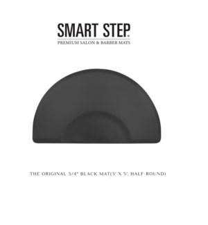 DA THE ORIGINAL ELITE BLACK MAT 3' X 5' SEMI-CIRCULAR