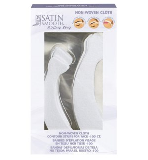DA SS EZGRIP EPILATING STRIPS FOR FACE (100 CONTOURED)