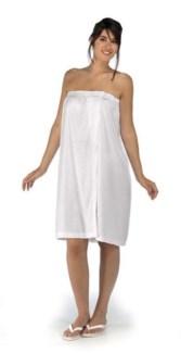 DA TERRY CLOTH SPA WRAP AROUND XL WHITE