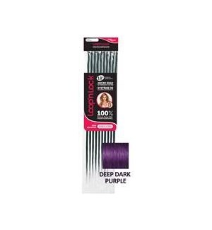 "FIRST LADY HAIR AFFAIR LOOP' n LOCK HH  DEEP PURPLE 18"" EXT"