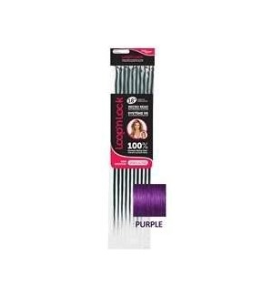 "FIRST LADY HAIR AFFAIR LOOP' n LOCK HH PURPLE 18"" EXT"