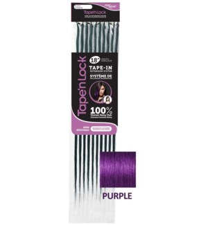"FIRST LADY HAIR AFFAIR TAPE'n LOCK HH 18"" EXT 10PC PURPLE"