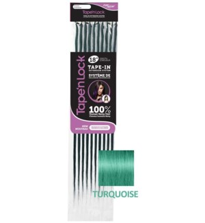 "FIRST LADY HAIR AFFAIR TURQUOISE TAPE'n LOCK HH 18"" EXT 10PC"