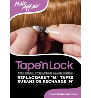 FIRST LADY HAIR AFFAIR TAPE'n LOCK TAPE TAB (50 PC/BAG)