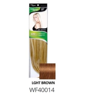 "FIRST LADY HAIR AFFAIR 18"" 8PC CLIP-IN 4HH LIGHT BROWN"