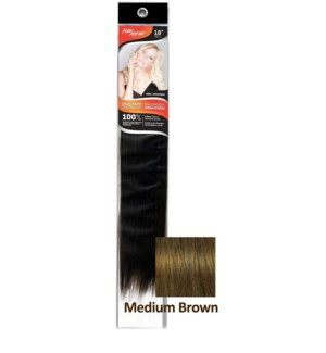 "FIRST LADY HH #3 MEDIUM BROWN 18"" DUAL TAPE EXTENSION"