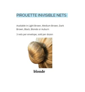 FLAIR PIROUETTE DANCE NETS - BLONDE