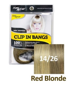 FIRST LADY HAIR AFFAIR CLIP IN BANGS #14/26 RED BLONDE