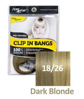 FIRST LADY HAIR AFFAIR CLIP IN BANGS #18/26 DARK BLONDE