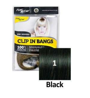 FIRST LADY HAIR AFFAIR CLIP IN BANGS #1 BLACK