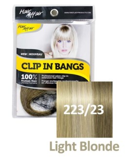 FIRST LADY HAIR AFFAIR CLIP IN BANGS #223/23 LIGHT BLONDE