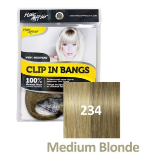 FIRST LADY HAIR AFFAIR CLIP IN BANGS #234 MEDIUM BLONDE