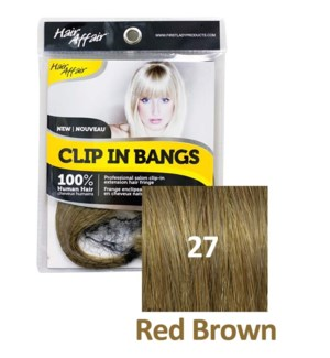 FIRST LADY HAIR AFFAIR CLIP IN BANGS #27 RED BROWN