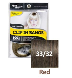 FIRST LADY HAIR AFFAIR CLIP IN BANGS #33/32 RED