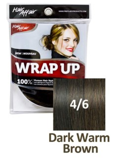 FIRST LADY HAIR AFFAIR WRAP UP #4/6 DARK WARM BROWN