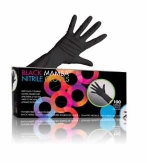 FO BLACK MAMBA - LARGE NITRILE GLOVES - LARGE 100/BOX
