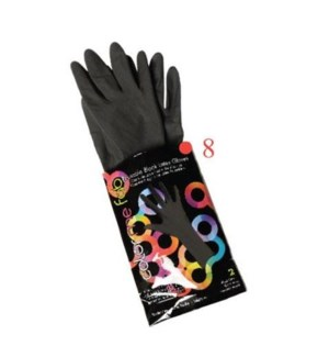 FO COLOR ME FAB REUSABLE LATEX GLOVES 2/PACK SIZE: 8