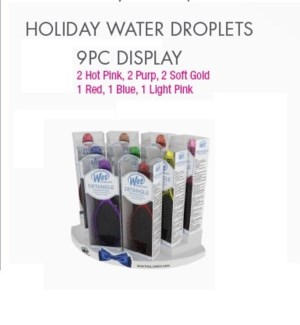 FOIL IT WET BRUSH - WATER DROPLETS 9PC DISPLAY