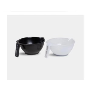 FRAM 2 PACK (BLACK & CLEAR) COLORING BOWLS
