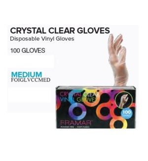 FRAMAR CRYSTAL CLEAR GLOVES - MEDIUM (100)