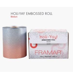 FRAMAR EMBOSSED ROLL(320') FOIL HOLI-YAY HD'19