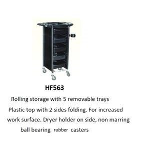 CM 5 DRAWER TROLLEY W FOLDING SIDE TRAYS