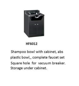 CM SHAMPOO BOWL WITH CABINET