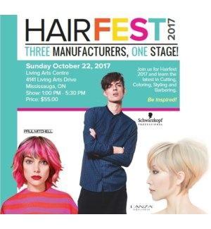 HAIRFEST SUN OCT 22, 2017 (COD ONLY) FINAL SALE