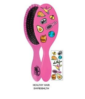 JD WETBRUSH W/DECALS #HEALTHYHAIR (PINK)