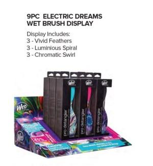 JD WETBRUSH ELECTRIC DREAMS - DETANGLER 9PC DISPLAY