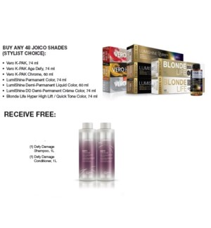 JOICO COLOR YOUR WORLD BUY48RECEIVE DEFY DAMAGE SH/CO JUNE20