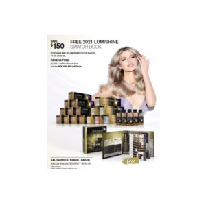 JOICO FREE 2 SWATCH BOOK W/ PURCHASE OF 60 LUMISHINE COLORS