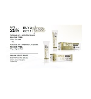 JOICO BUY 3 GET 1 FREE QUICK TONE/HYPER HIGH LIFT
