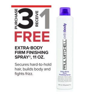 PM EXTRA BODY FIRM FINISHING SPRAY 10OZ 3 + 1 NC SO'19