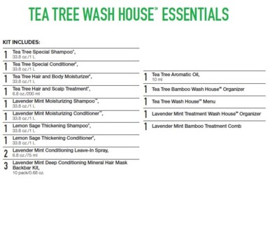 PM TEA TREE WASH HOUSE ESSENTIALS (TTWH17)//2018