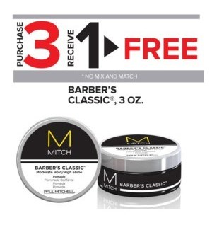 PM MITCH BARBER'S CLASSIC 3OZ 3 + 1 NC MA'20