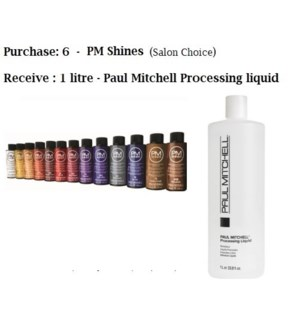 PM SHINES 2OZ - BUY 6, GET PROCESSING LIQUID NC//MJ'19