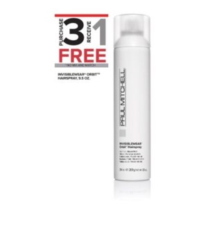 PM INVISIBLEWEAR ORBIT HAIRSPRAY 9.5OZ 3 + 1NC SO'19