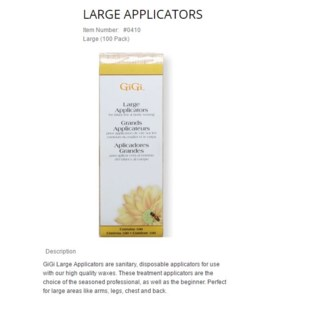 GIGI LARGE WOOD APPLICATORS 100/PKG