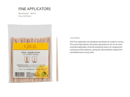 GIGI FINE APPLICATORS/100PK