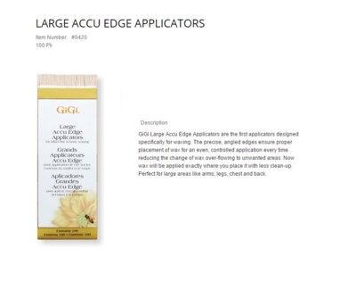 GIGI SMALL ACCUEDGE APPLICATORS 100/PKG