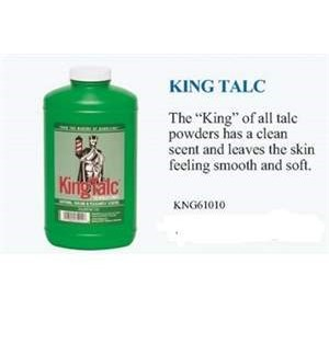 KR KING TALC POWDER 9OZ //NEW